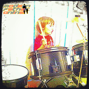 Cadel Playing the Drums