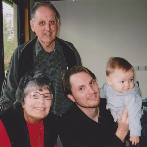 Darrell, Grandma Pat, Grandpa David and Cadel