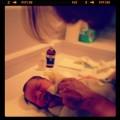 Cadel first bath