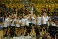 KGHM Metraco take the trophy, Women's Final Four Handball Championship Game, Gdynia, Poland.
