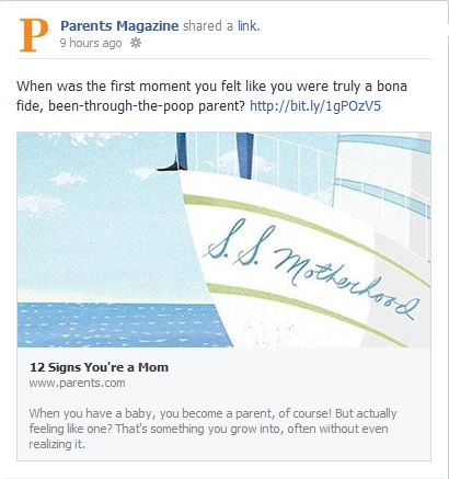 parents magazine facebook 12 signs you're a mom