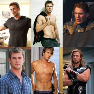 Chris Evans versus Chris Hemsworth