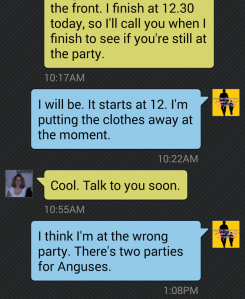 Text Message Wrong Party