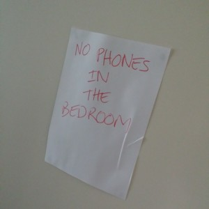 No Mobile Phones In Bed