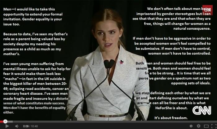 Emma Watson Feminist Speech