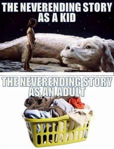 never ending story laundry washing