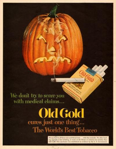 halloween cigarette advertisement