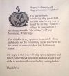 halloween fat letter kid