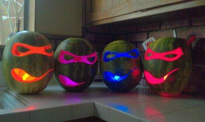 tmnt watermelon carvings