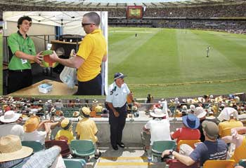 Watermelon Hat Banned at Cricket