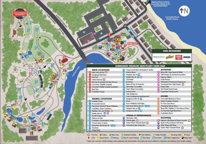 Currumbin WIldlife Map