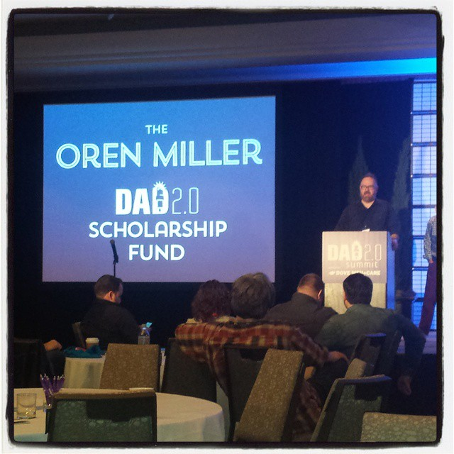 Close friend and blogger, Designer Daddy's Brent Almond reading Oren's open letter at Dad 2.0 2015