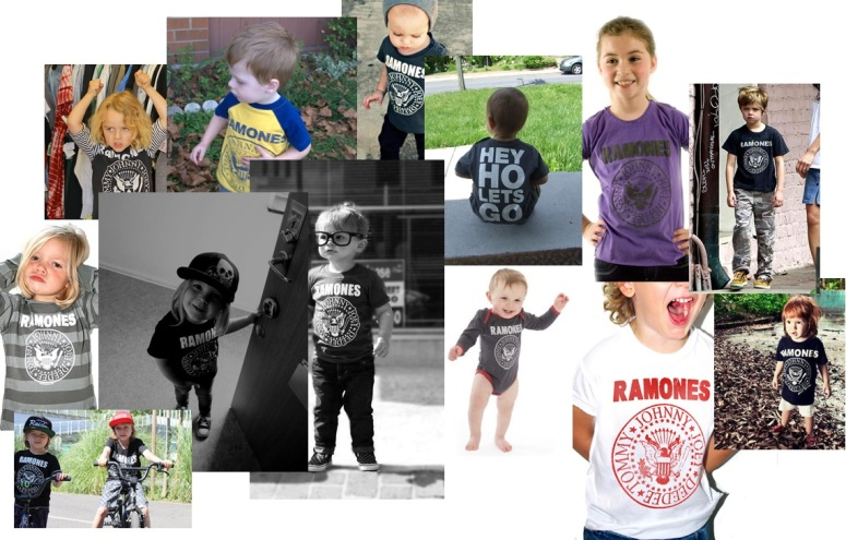 Ramones tshirts for kids children