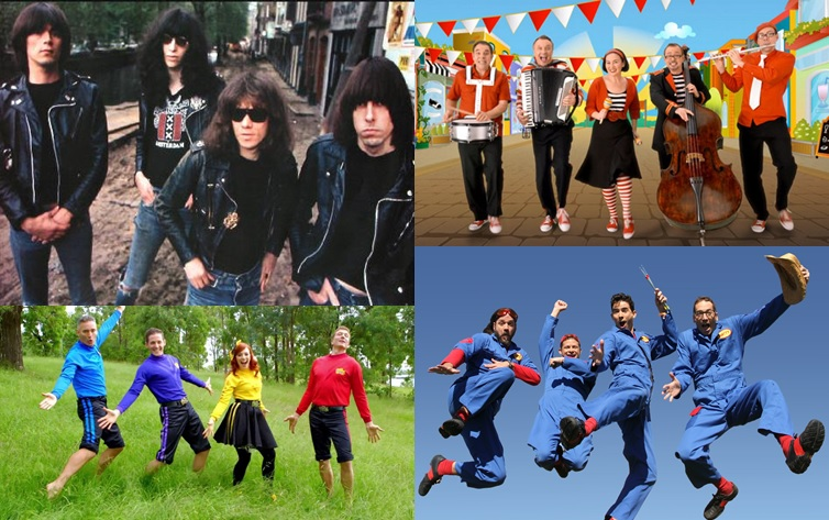 The Ramones The Wiggles Lah-Lah's Big Live Band Imagination Movers