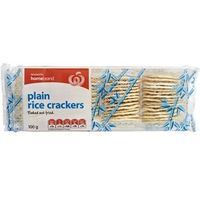 Woolworths Homebrand Rice Crackers Original