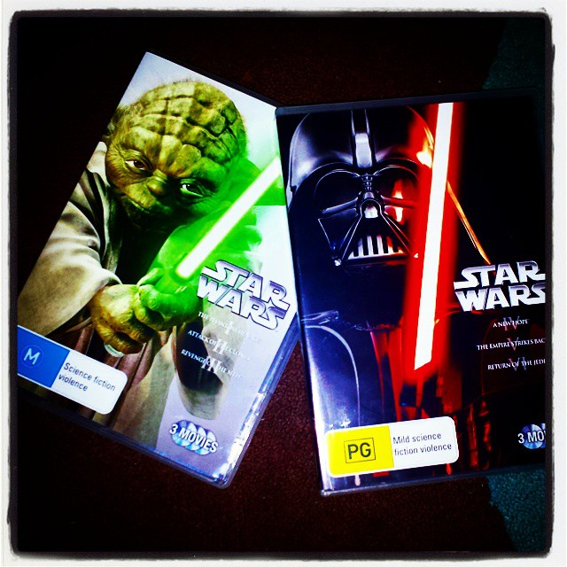 I finally bought the complete Star Wars saga on DVD on Star Wars Day eve 2015.
