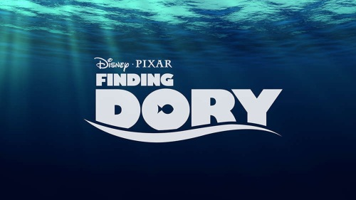 The title card for Pixar's Finding Dory. This will be released late 2015 or mid 2016.