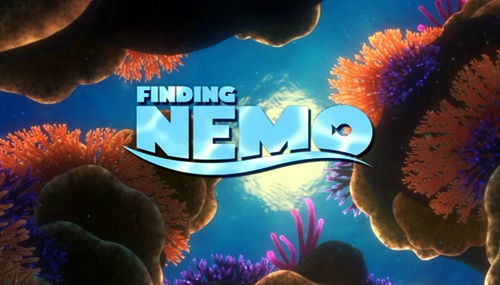 The title card from Pixar's 2003 release Finding Nemo