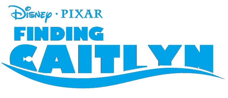 The title logo for Pixar's Finding Caitlyn.