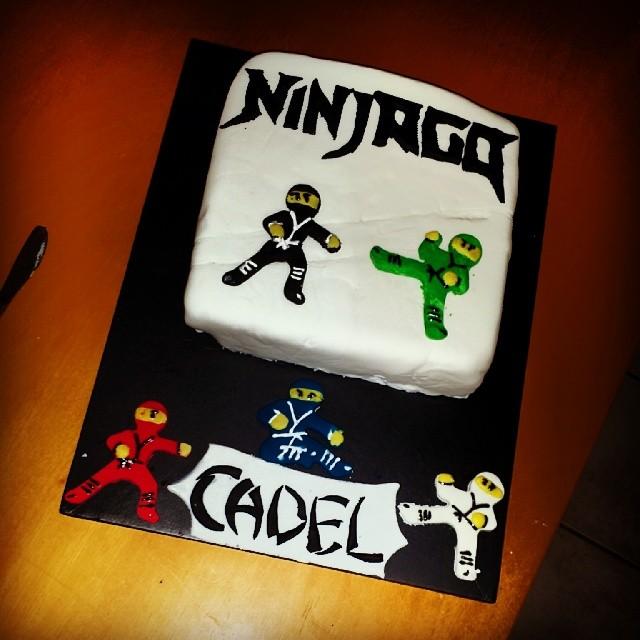 The Lego Ninjago cake