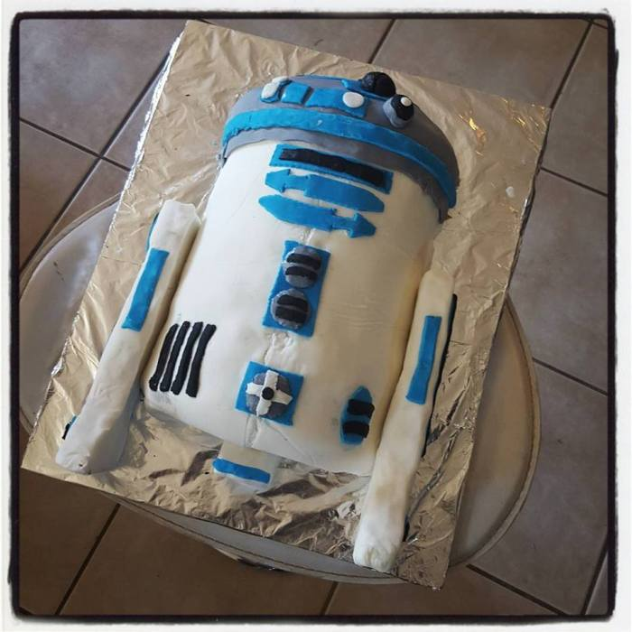 r2d2 cake baking tutorial step 9