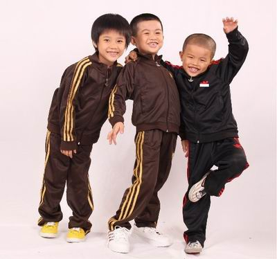 Unless your kids are going fancy dress as Run DMC, don't dress them like this. Photo courtesy of some knock off Adidas online store.