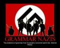 Grammar Nazis are killjoys.