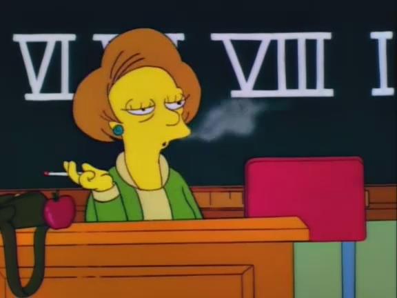 mrs krabappel teaching roman numerals