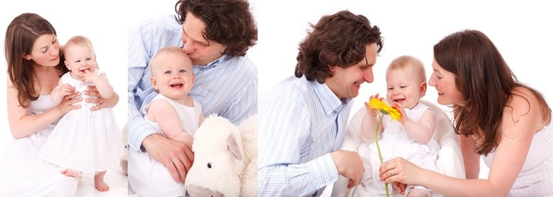 The Difference Between Mothering, Fathering and Parenting. Photo montage from photos courtesy of Pixabay.