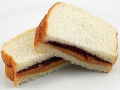 Peanut Butter and Jelly (Jam) Sandwiches were once a school yard favourite.