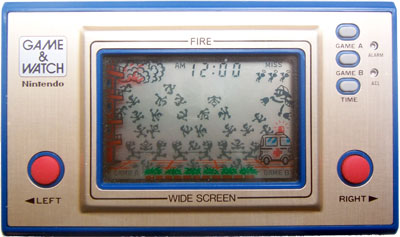 Nintendo's Game & Watch - Fire Photo credit: Nintendo Wikia