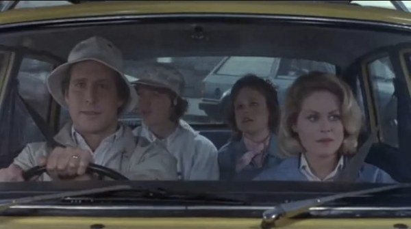 Clark Griswol once again driving in National Lampoon's European Vacation 1985