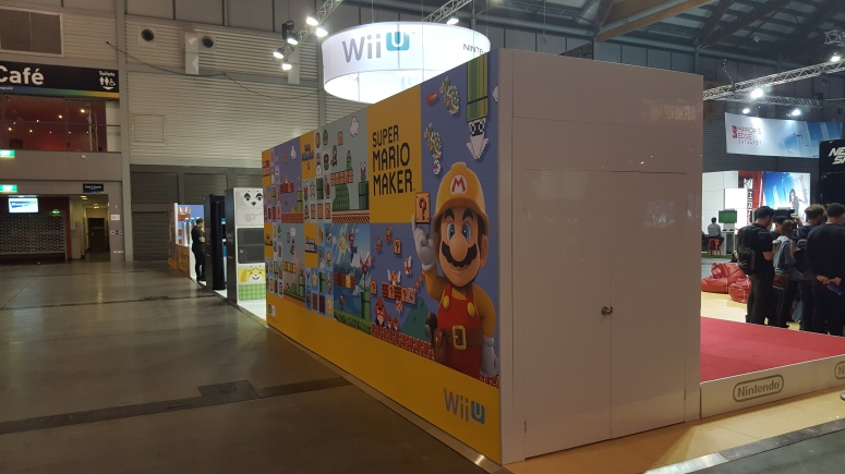 Nintendo Australia's Super Mario Maker display at a recent gaming exhibition in Sydney