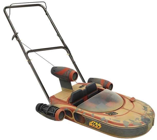 Star Wars Branded Hover Lawn Mower - Luke's Land Speeder.
