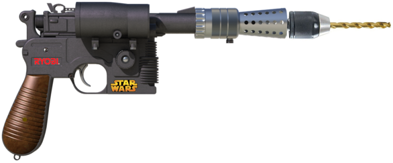 Star Wars Branded Ryobi Drill - Han Solo's Blaster