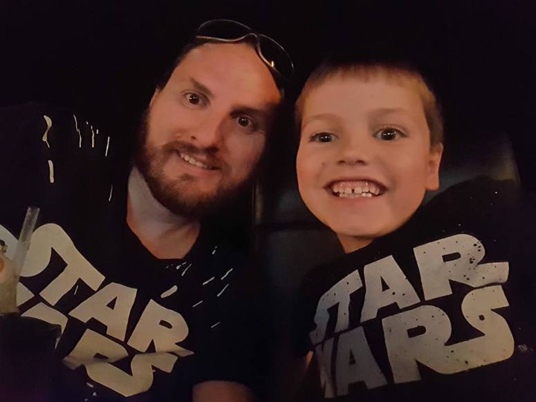 A Star Wars selfie with one of my boys