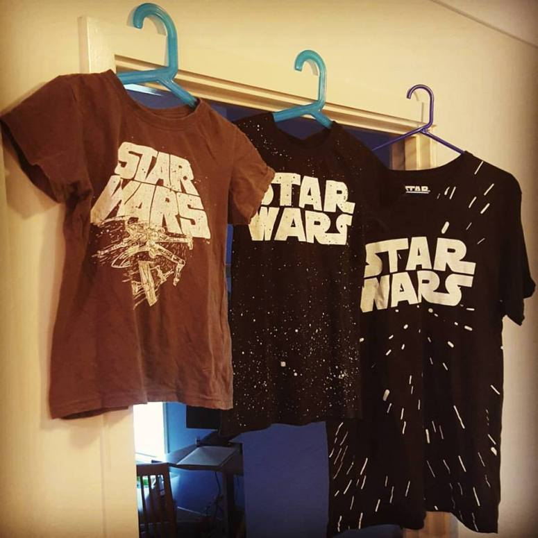 Yes, we ARE wearing Star Wars tees to see the movie just in case everyone is wondering what we're going to see...