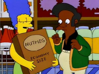 The Simpson's parody of big box retailer's packing sizes.