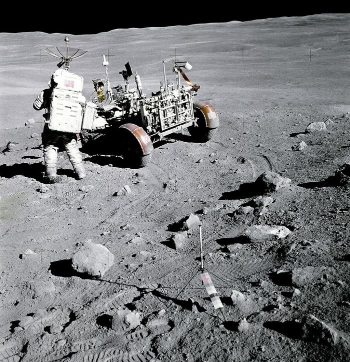Moon landing photo from Wikimedia Commons