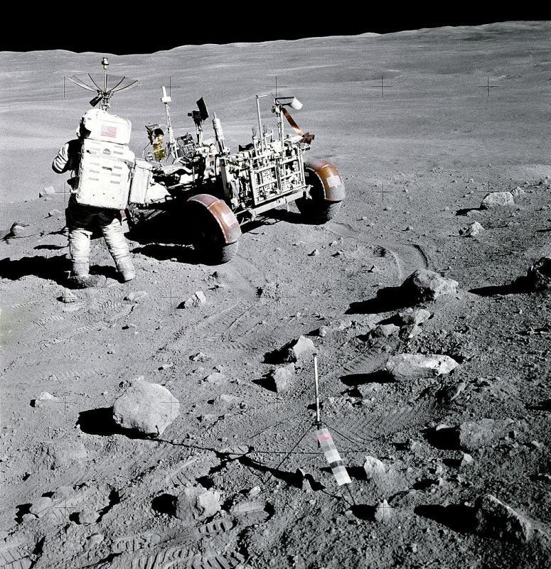 Moon landing photo from Wikimedia Commons