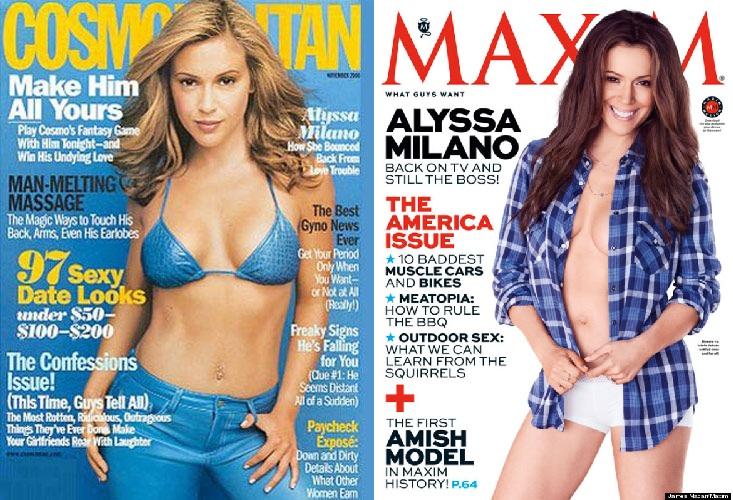 The women's magazine Cosmopolitan and the men's magazine Maxim