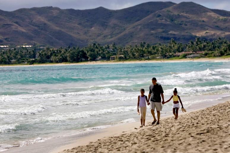 Obama holidaying in Hawaii.