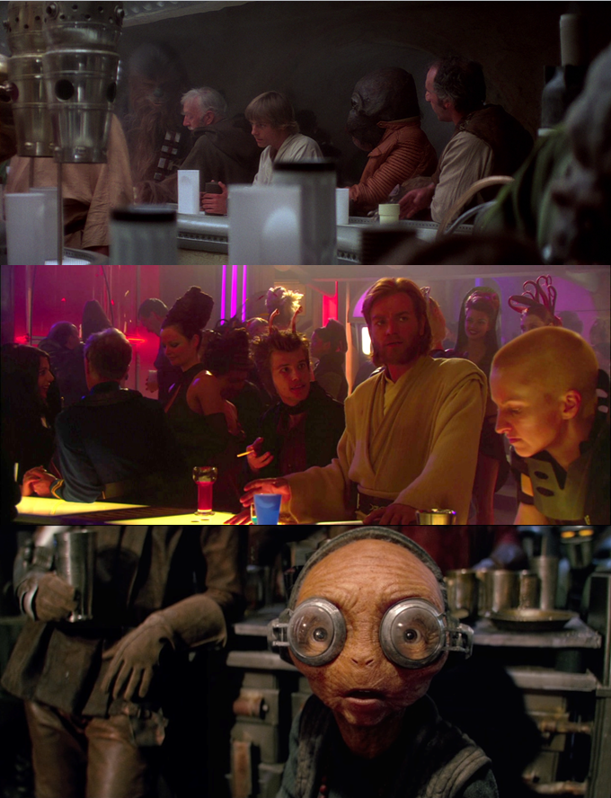 Bar scenes are more common in the Star Wars movies than you'd think.