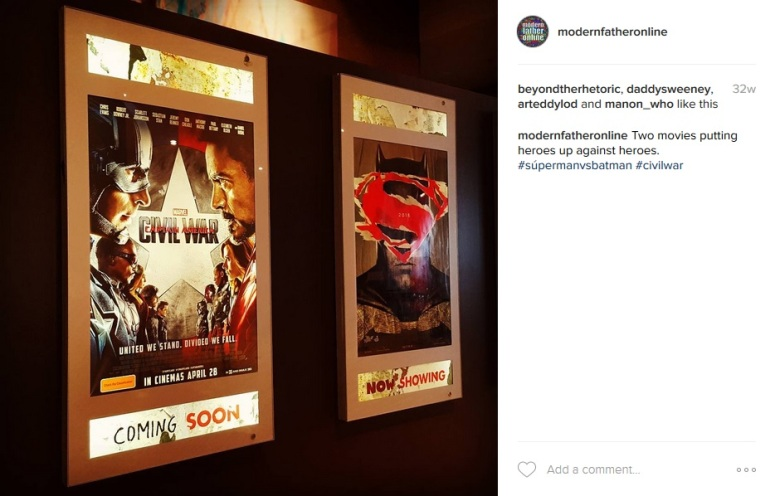 As one film left my local cinema, the other film was shown. Photo courtesy of my Instagram account.